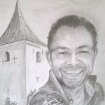 Gudmund Rask Pedersen Tegning: Bodil Andersen